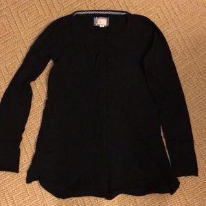 Anthro Black long sleeve t-shirt